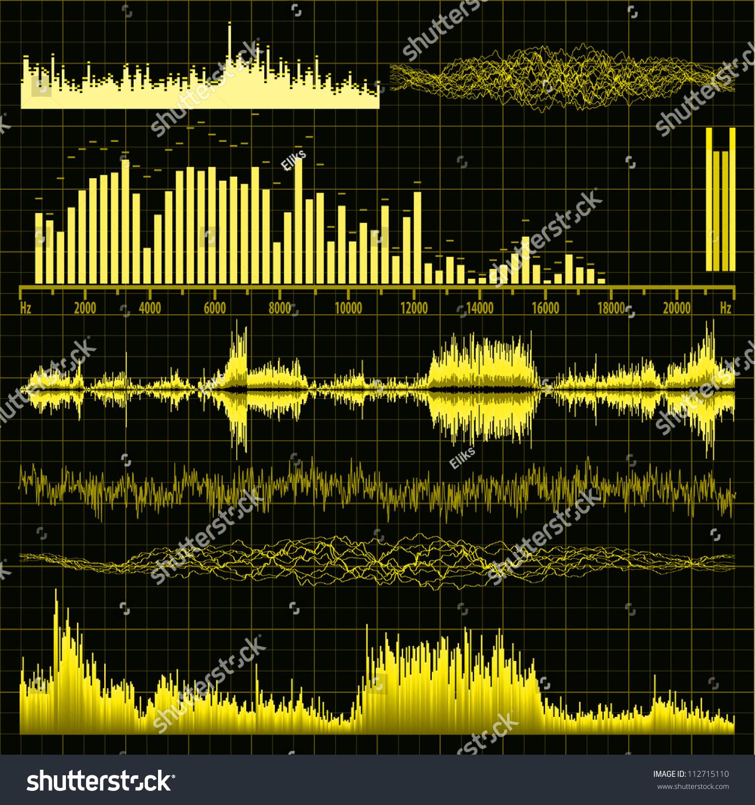 声波集.音乐背景.每股收益8矢量文件包括-背景/素材