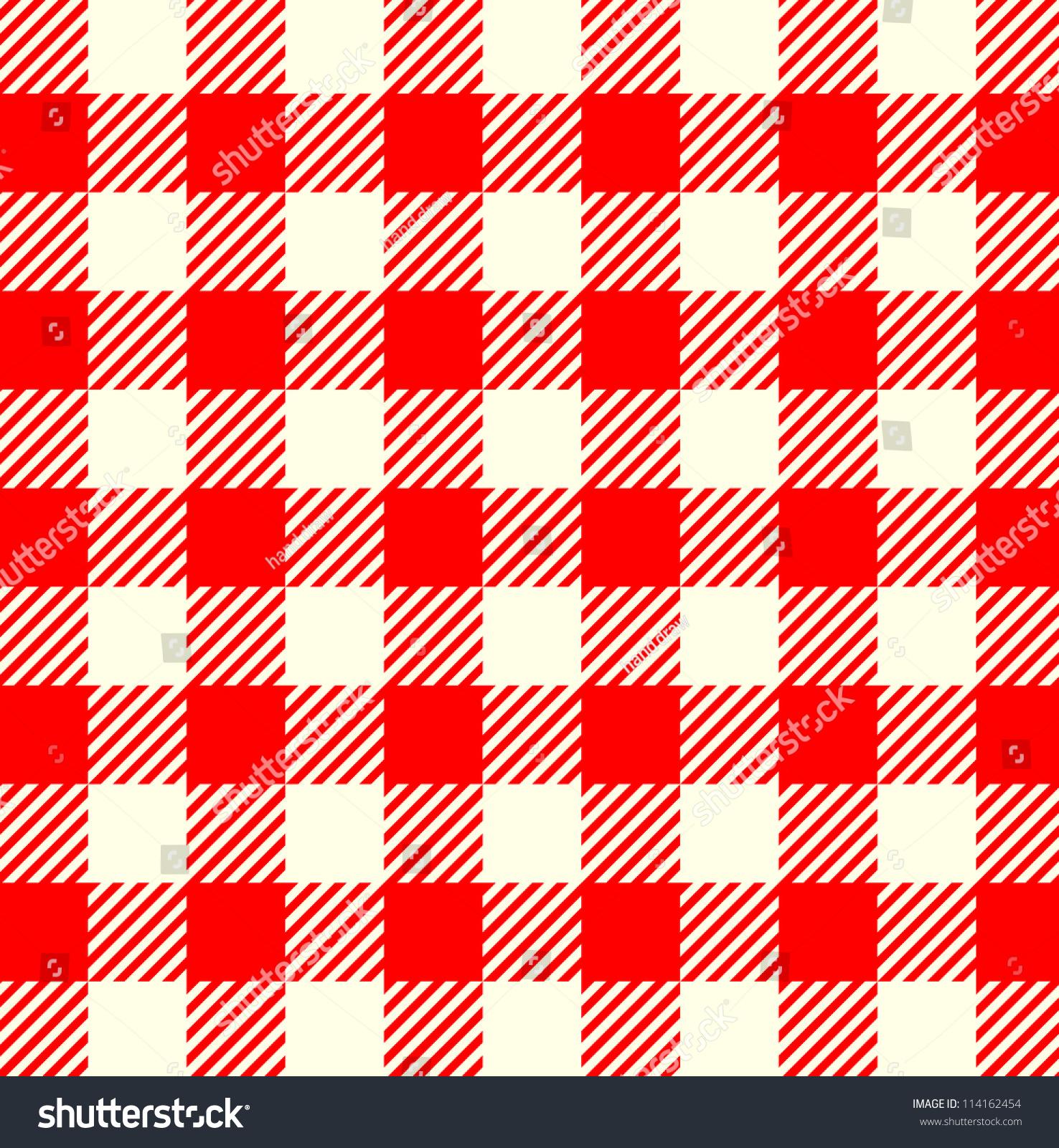 无缝红白色的桌布图案-背景/素材,公园/户外-海洛创意