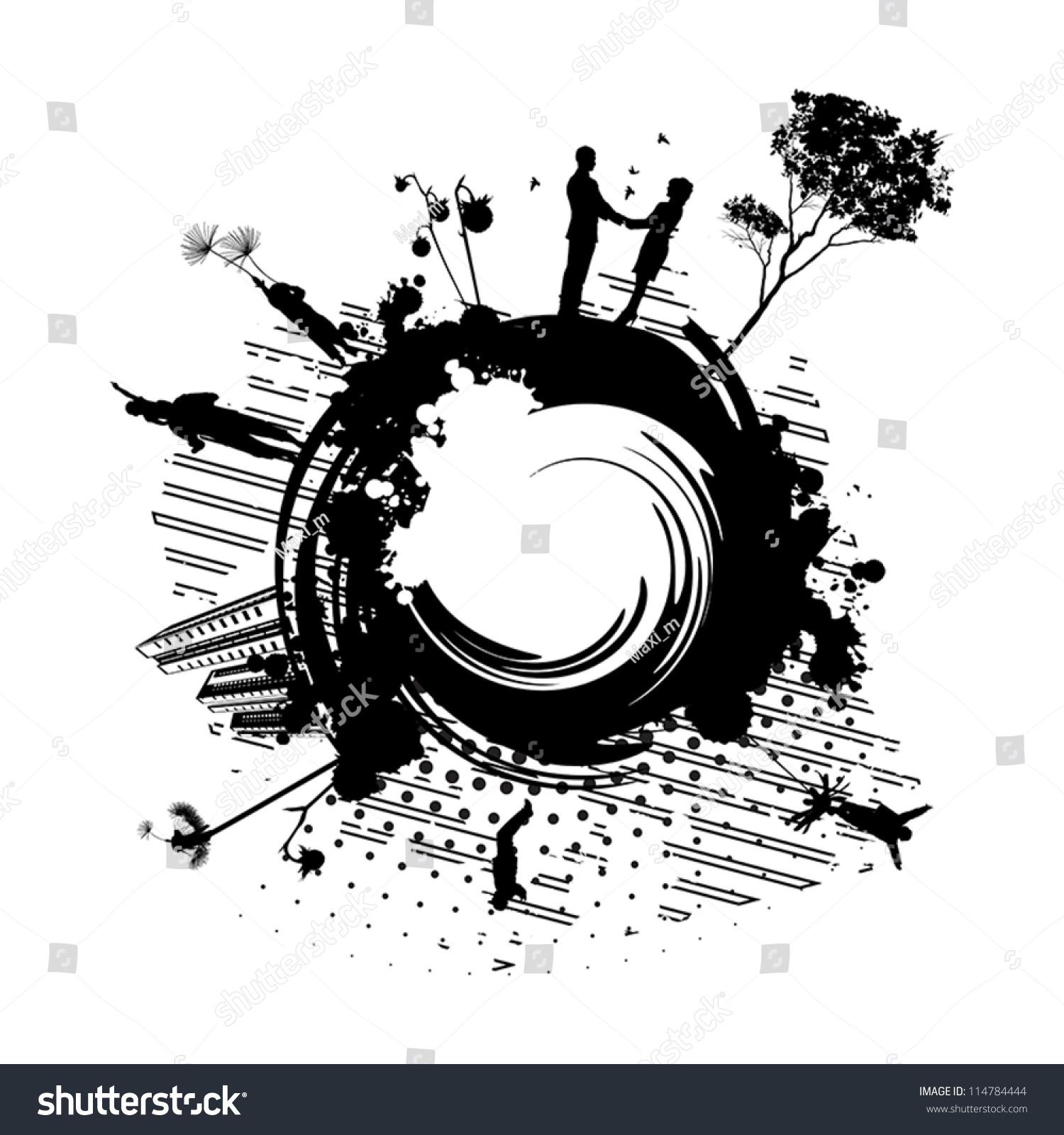 微信矢量图标 黑白