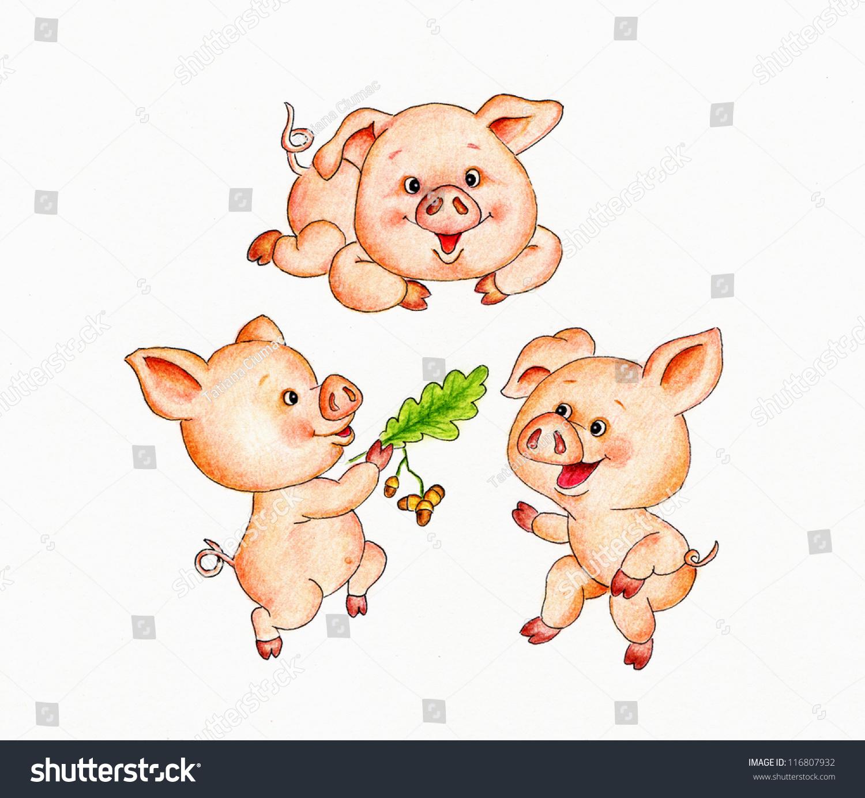 三只小猪-背景/素材,艺术-海洛创意(hellorf)-中国