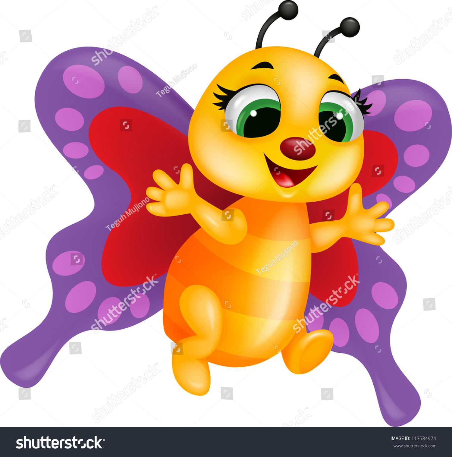 有趣的蝴蝶卡通-动物/野生生物-海洛创意(hellorf)