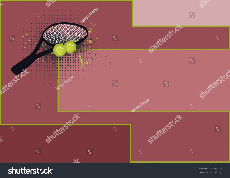 网球运动物体与空间背景