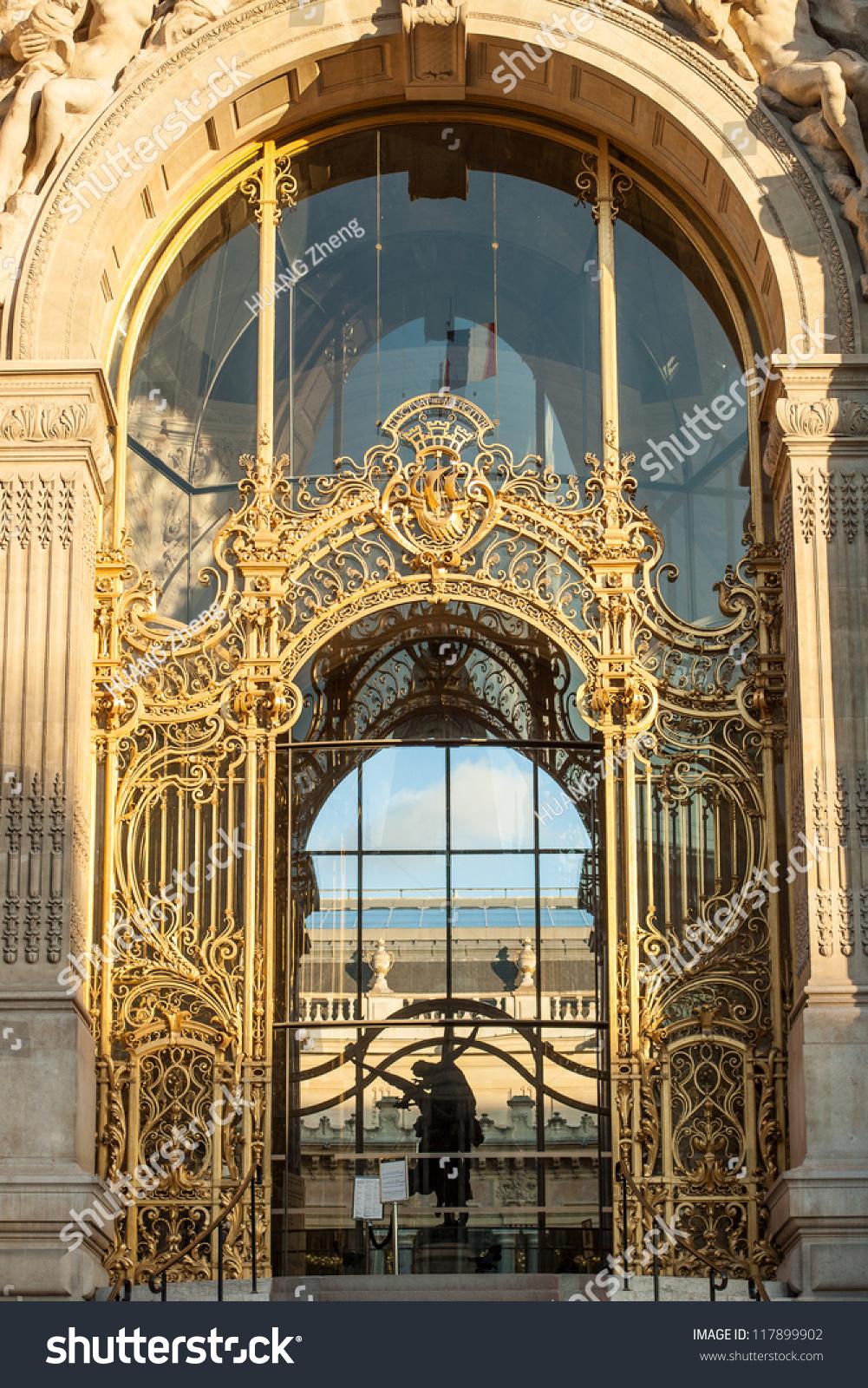法国巴黎小宫殿的入口装饰(小皇宫)-建筑物/地标,艺术图片