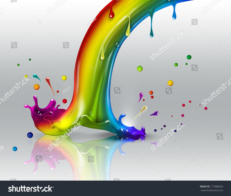 彩虹闪灯光背景-其它,抽象-海洛创意(hellorf)-中国