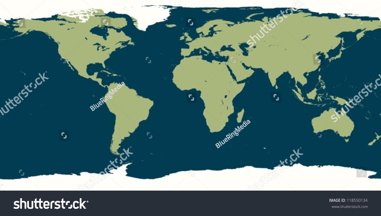 插图的世界地图-科学-海洛创意(hellorf)-中国独家-.