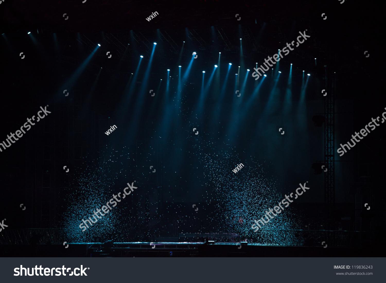 舞台灯光效果的形象-背景/素材
