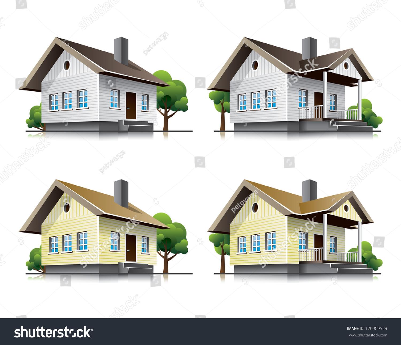 家庭房屋卡通图标-建筑物/地标,符号/标志-海洛创意()
