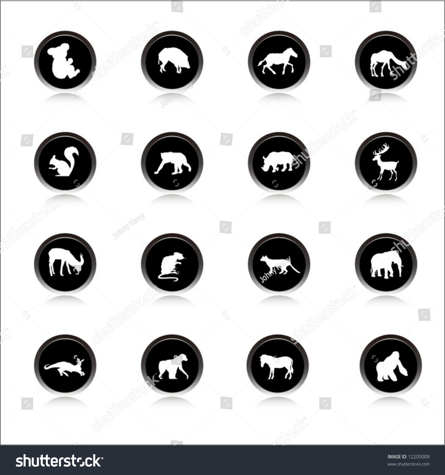 土地animals-2矢量图标