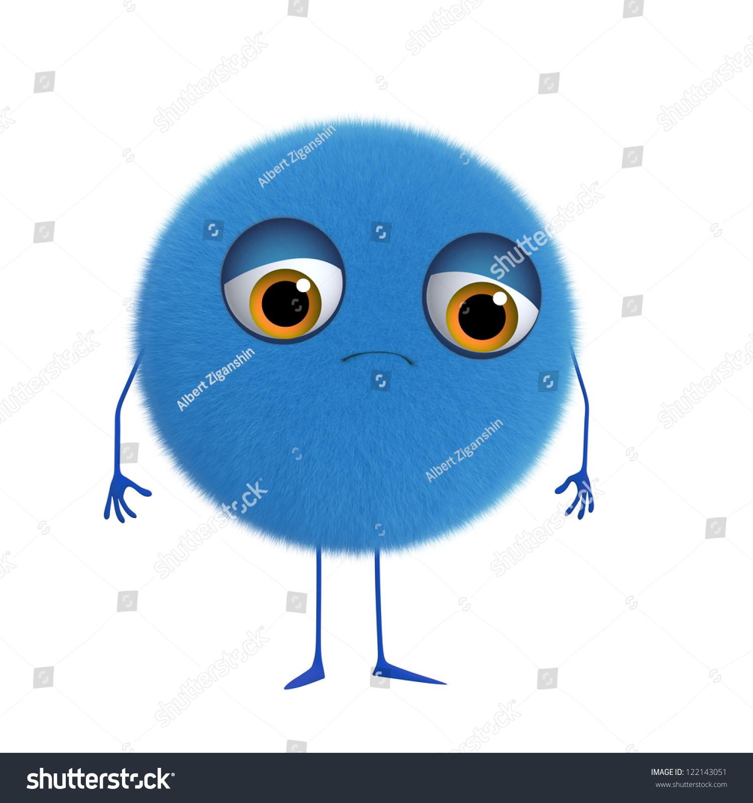 d卡通可爱的蓝色的球