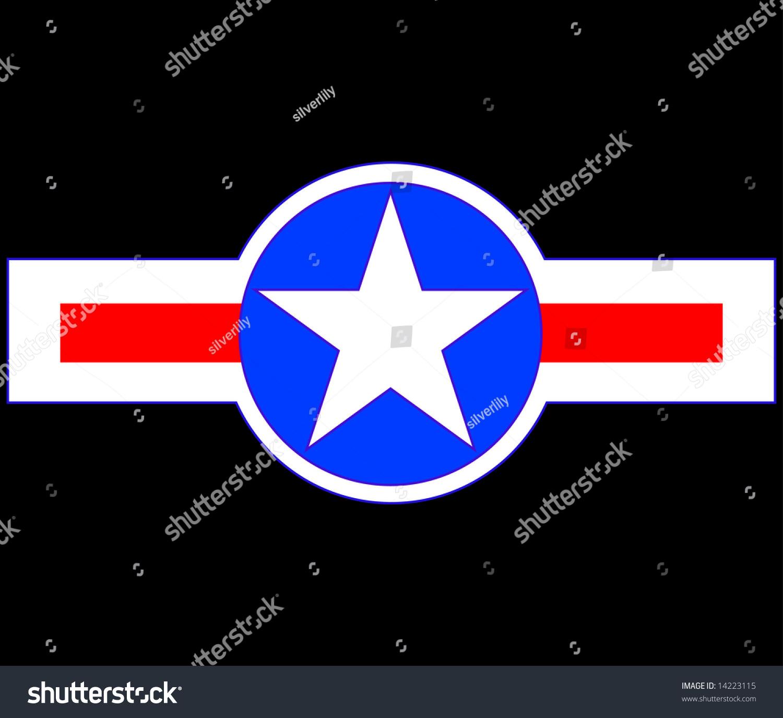 矢量图的美国军用飞机的象征-插图/剪贴图