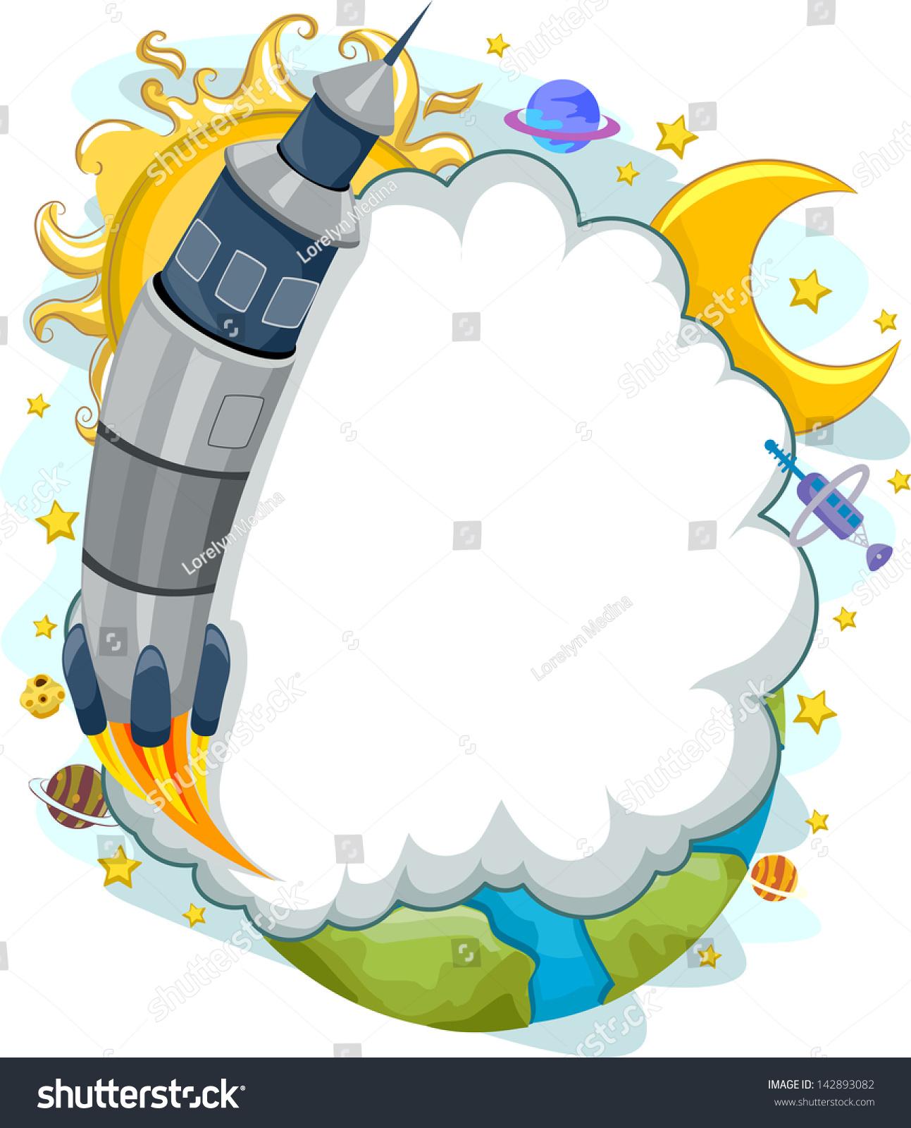 云框火箭发射到太空的背景说明-背景/素材,科学-海洛
