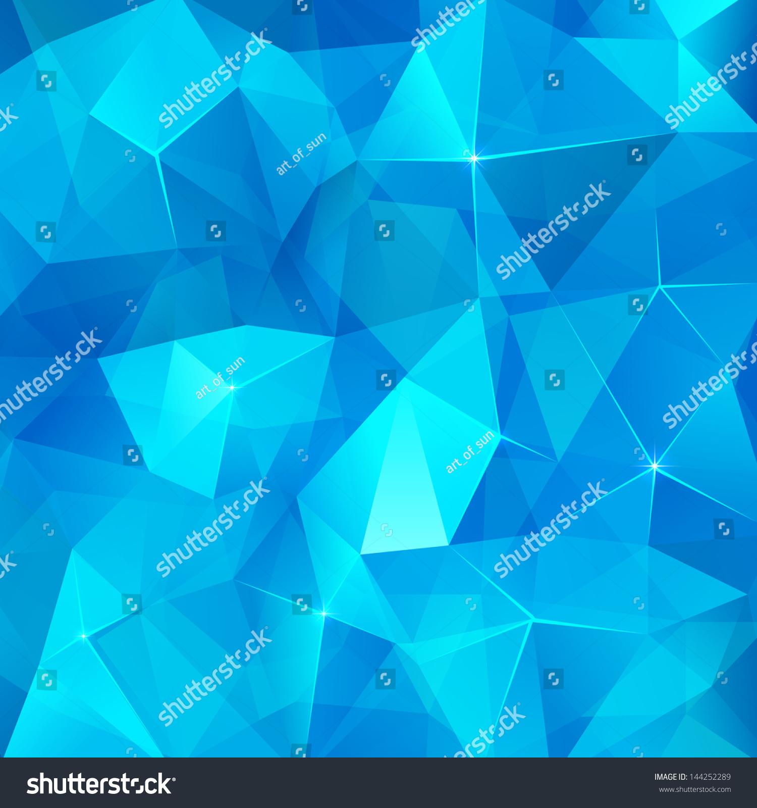 冰块蓝色抽象几何矢量的背景-背景/素材