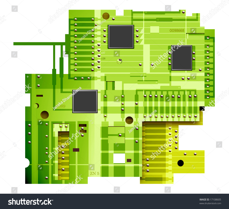 电子电路板,数字艺术-插图/剪贴图,交通运输-海洛创意
