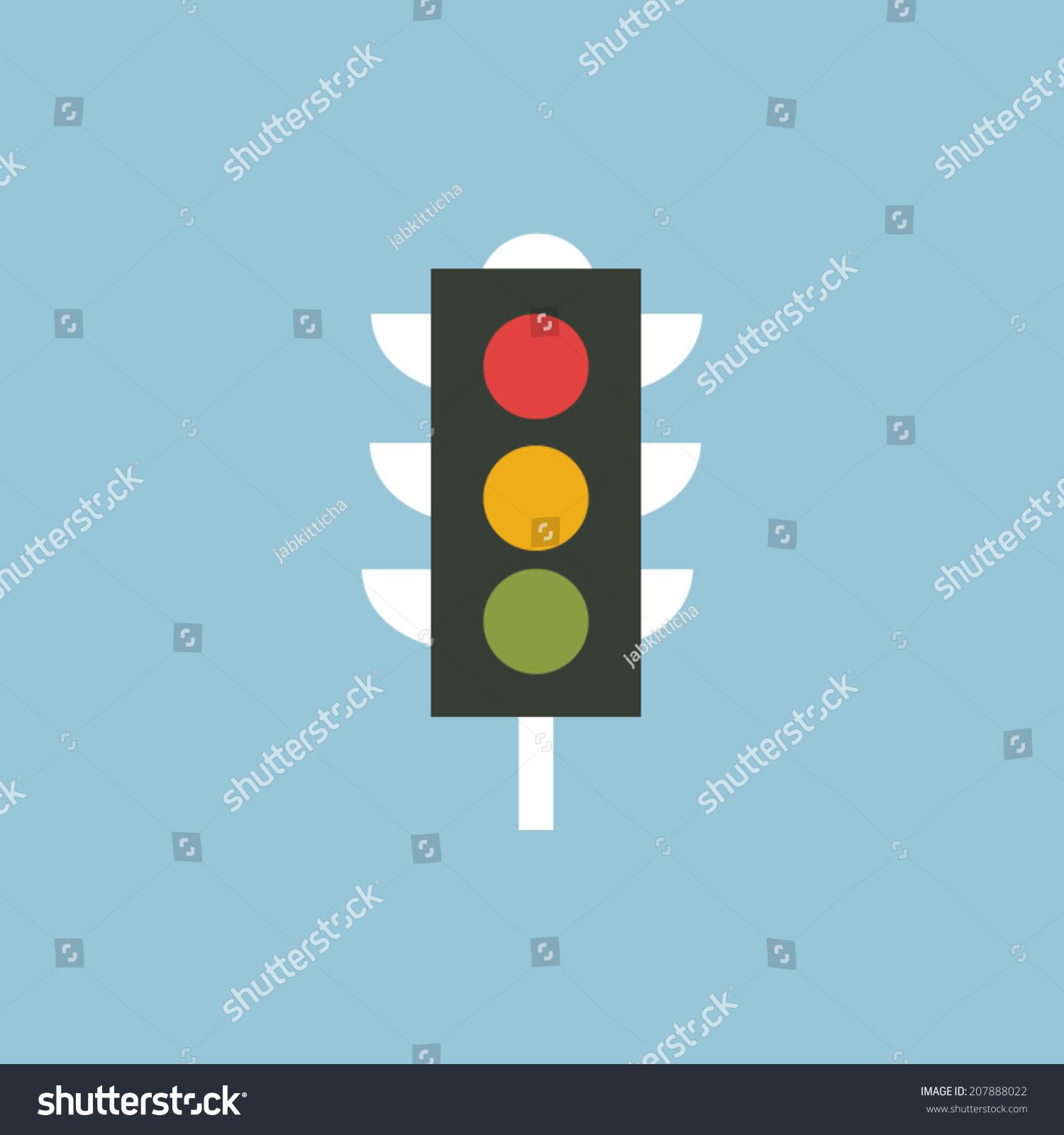 交通灯图标矢量-交通运输