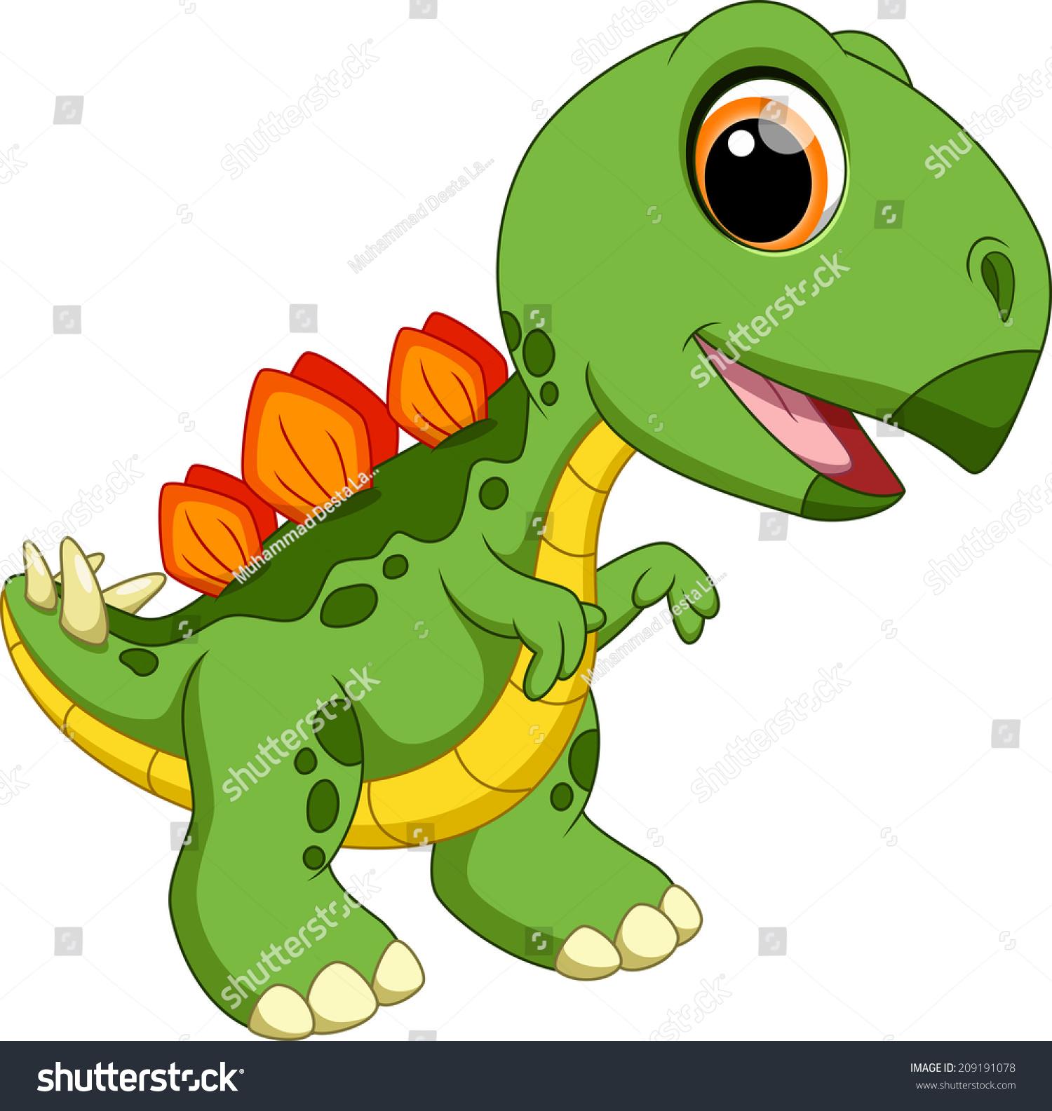 可爱的宝宝剑龙卡通-动物/野生生物-海洛创意(hellorf