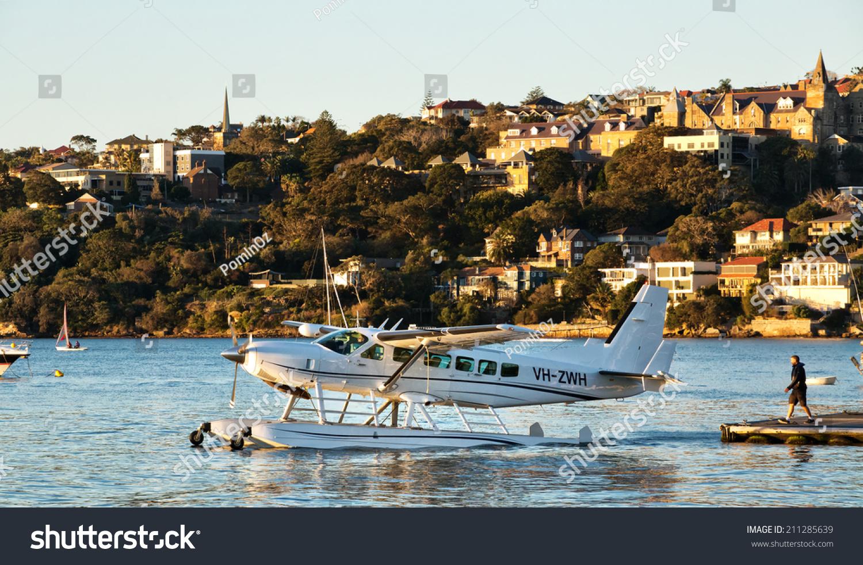出租车水上飞机起飞