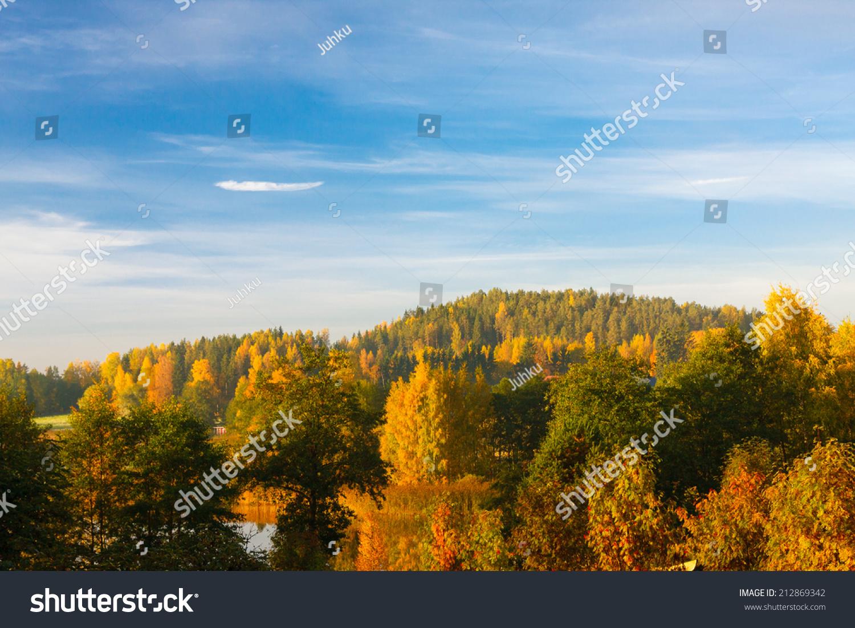 秋天的森林景观-自然,公园/户外-海洛创意(hellorf)-.图片