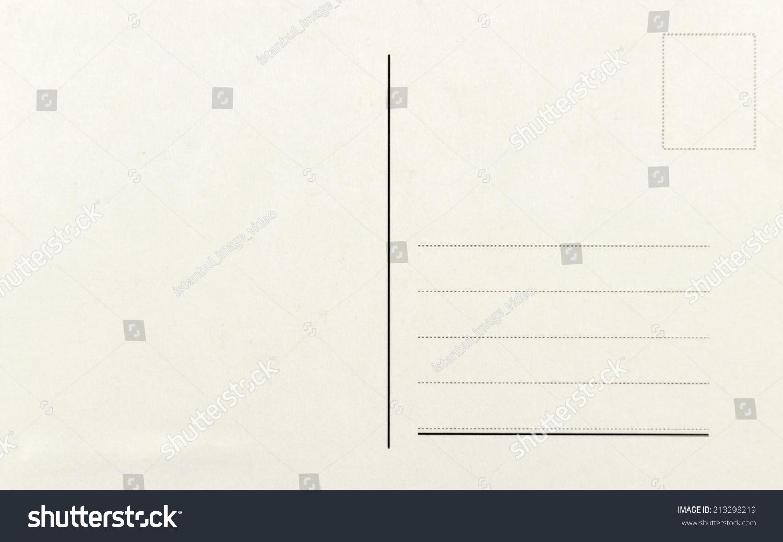 空白明信片隔离在高分辨率-背景/素材