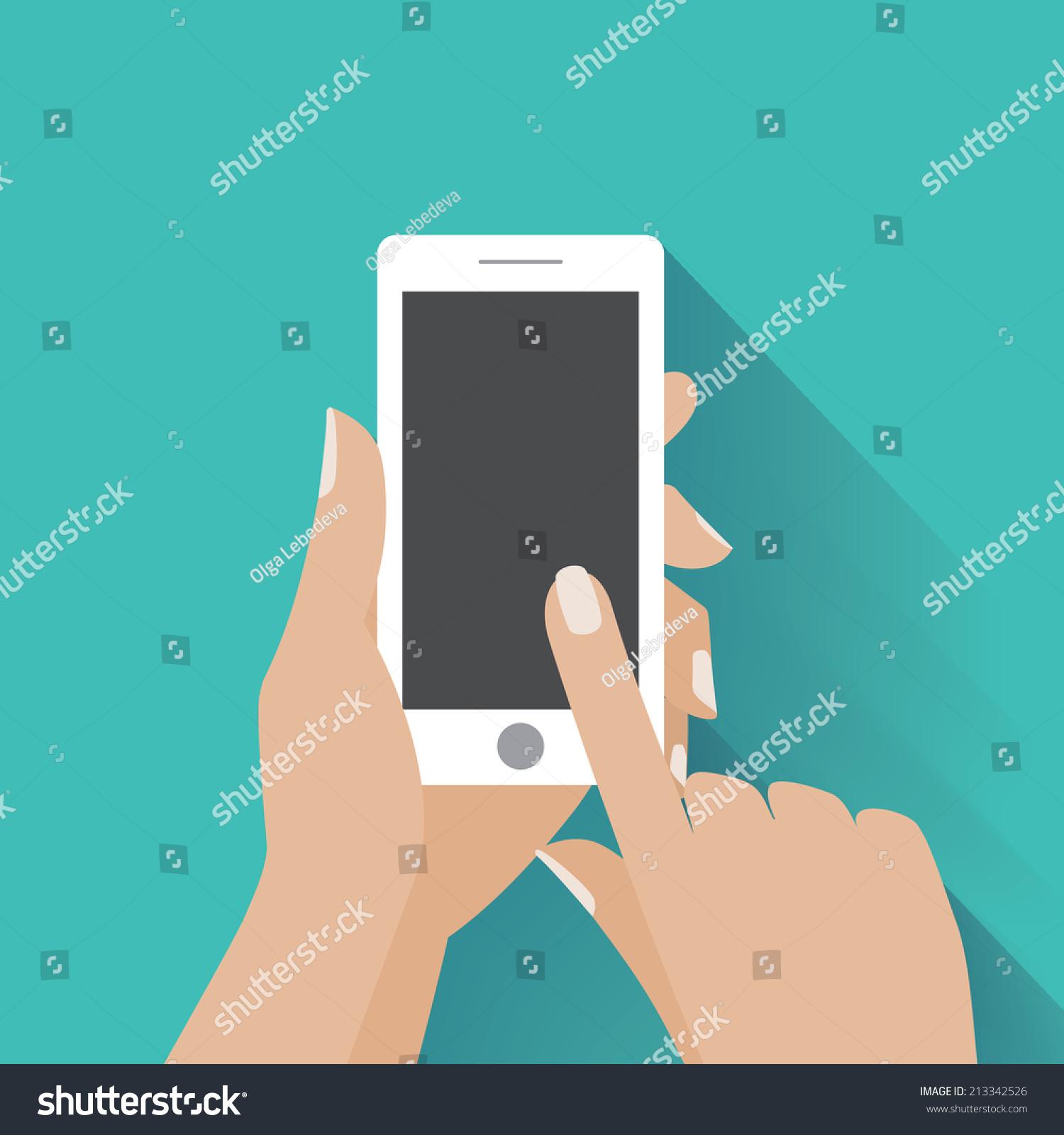 手钻白色的智能手机,动人的空白屏幕。使用移动智能手机,平面设计理念。每股收益10矢量图 - 背景/素材,科技 - 站酷海洛创意正版图片,视频,音乐素材交易平台 - Shutterstock中国独家合作伙伴 - 站酷旗下品牌