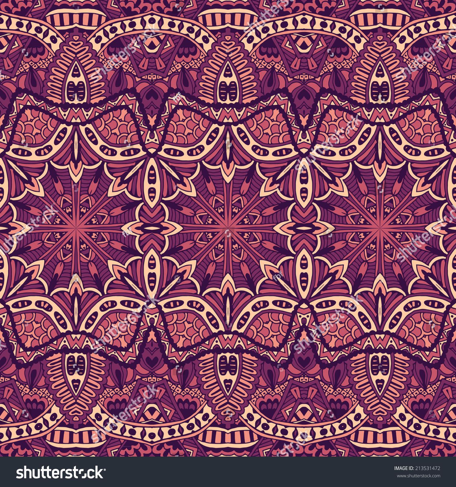 抽象复古民族无缝装饰背景纹理-背景/素材,抽象-海洛