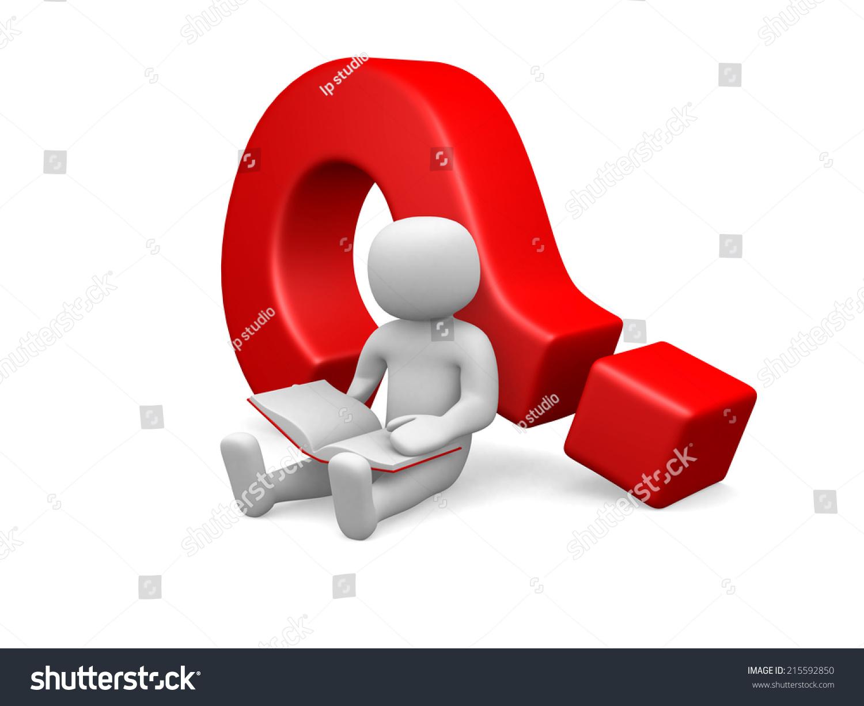 3 d小人物——坐在一个问号-背景/素材,商业/金融-()