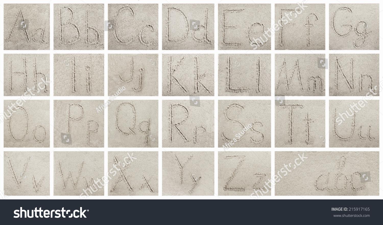 手写字母字母砂背景