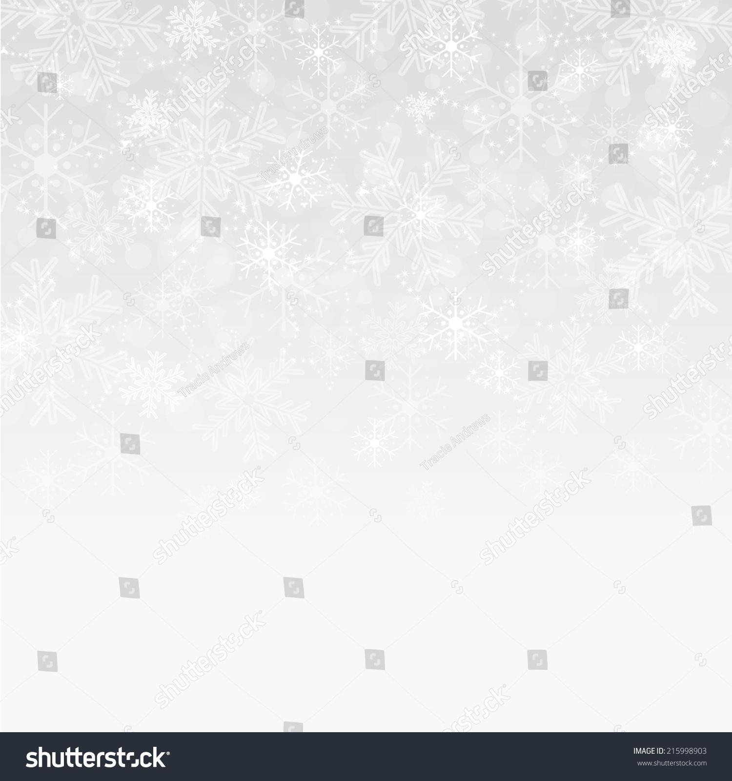 银色和白色雪花背景-背景/素材,假期-海洛创意()-中国