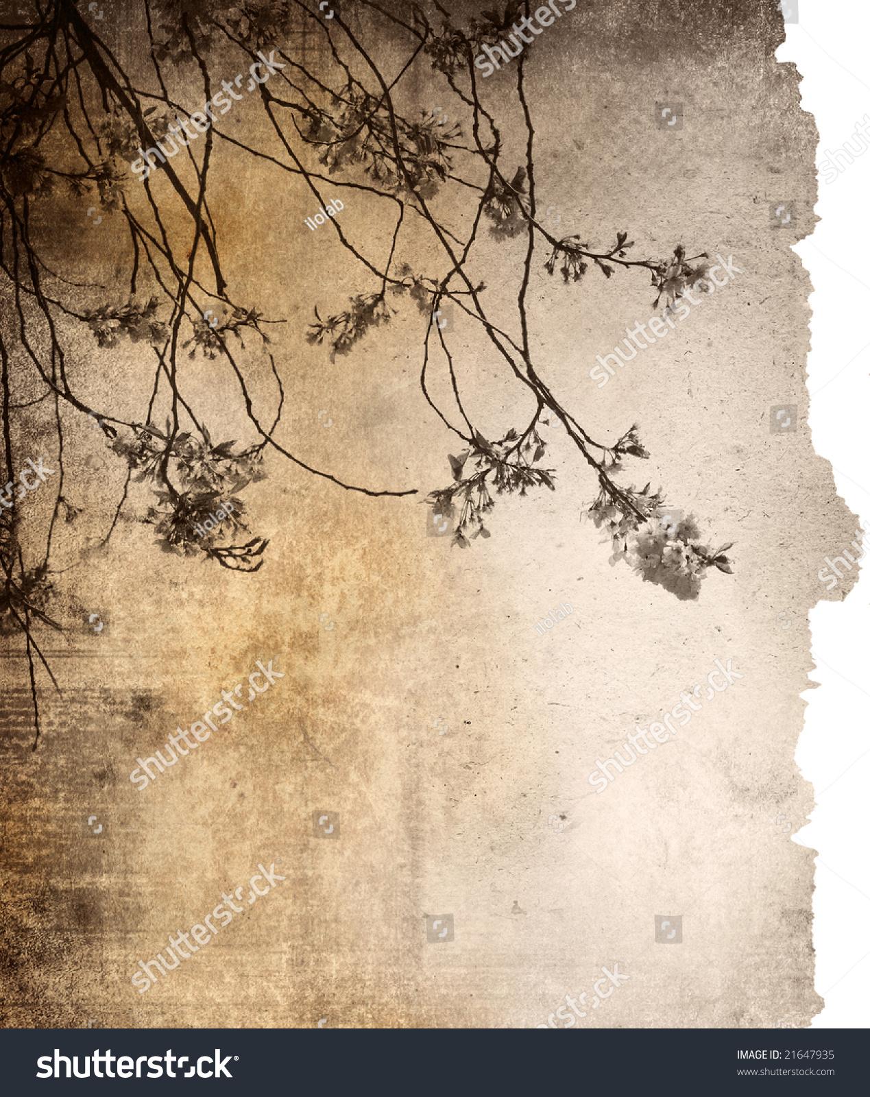 花老纸纹理背景-复古风格