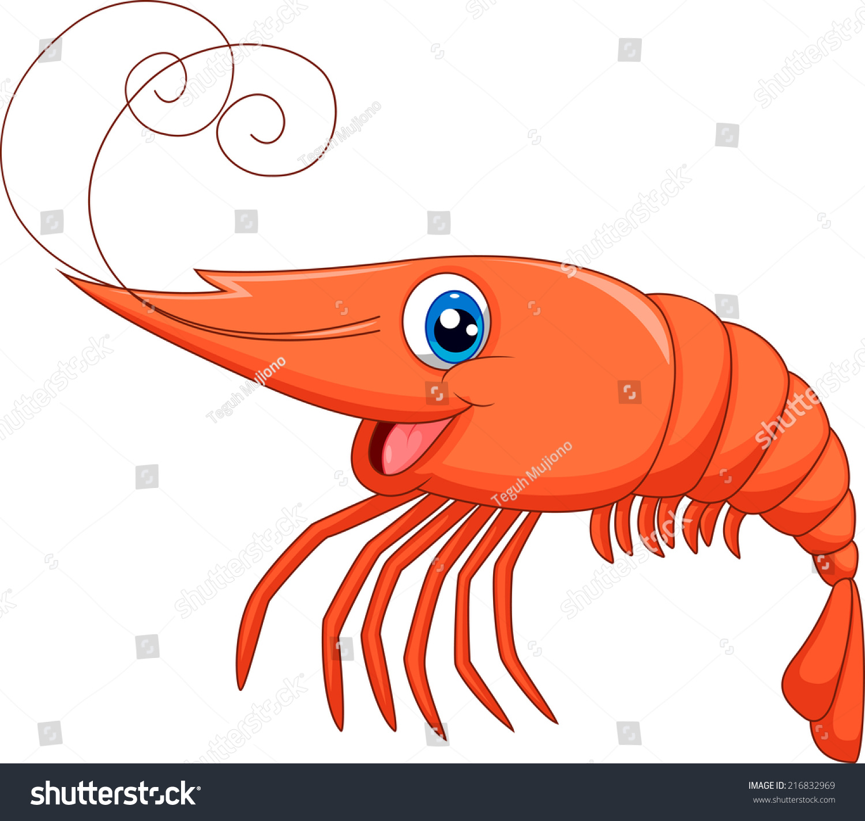 可爱的卡通虾