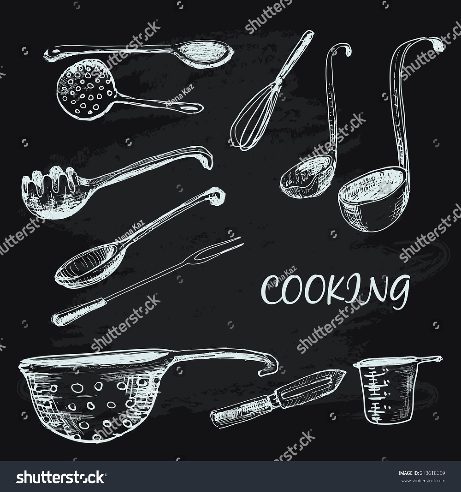 烹饪集合.手绘插图