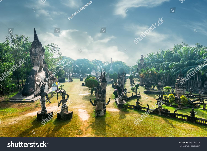 老挝风景明信片