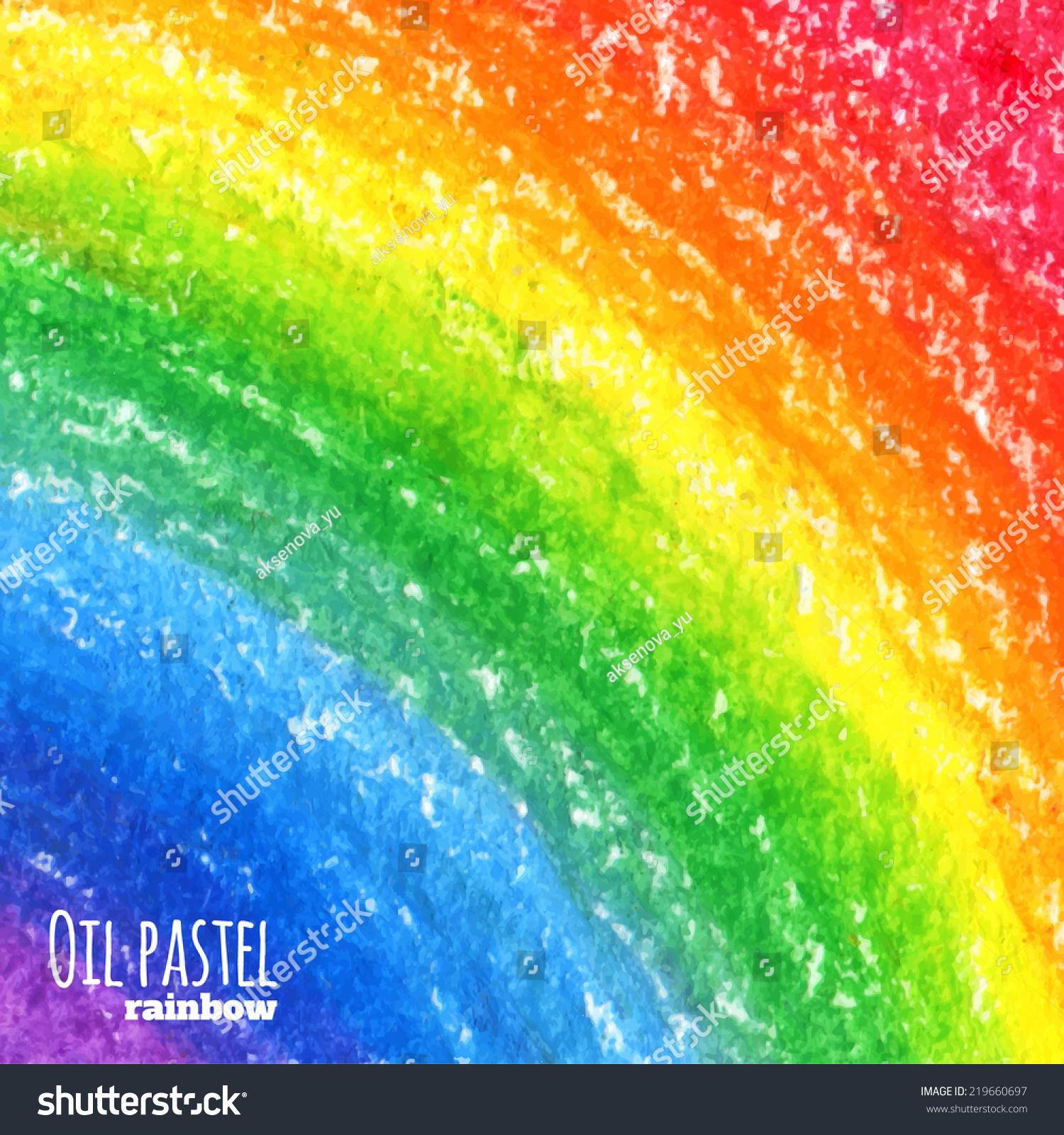 高清三色彩虹矢量图