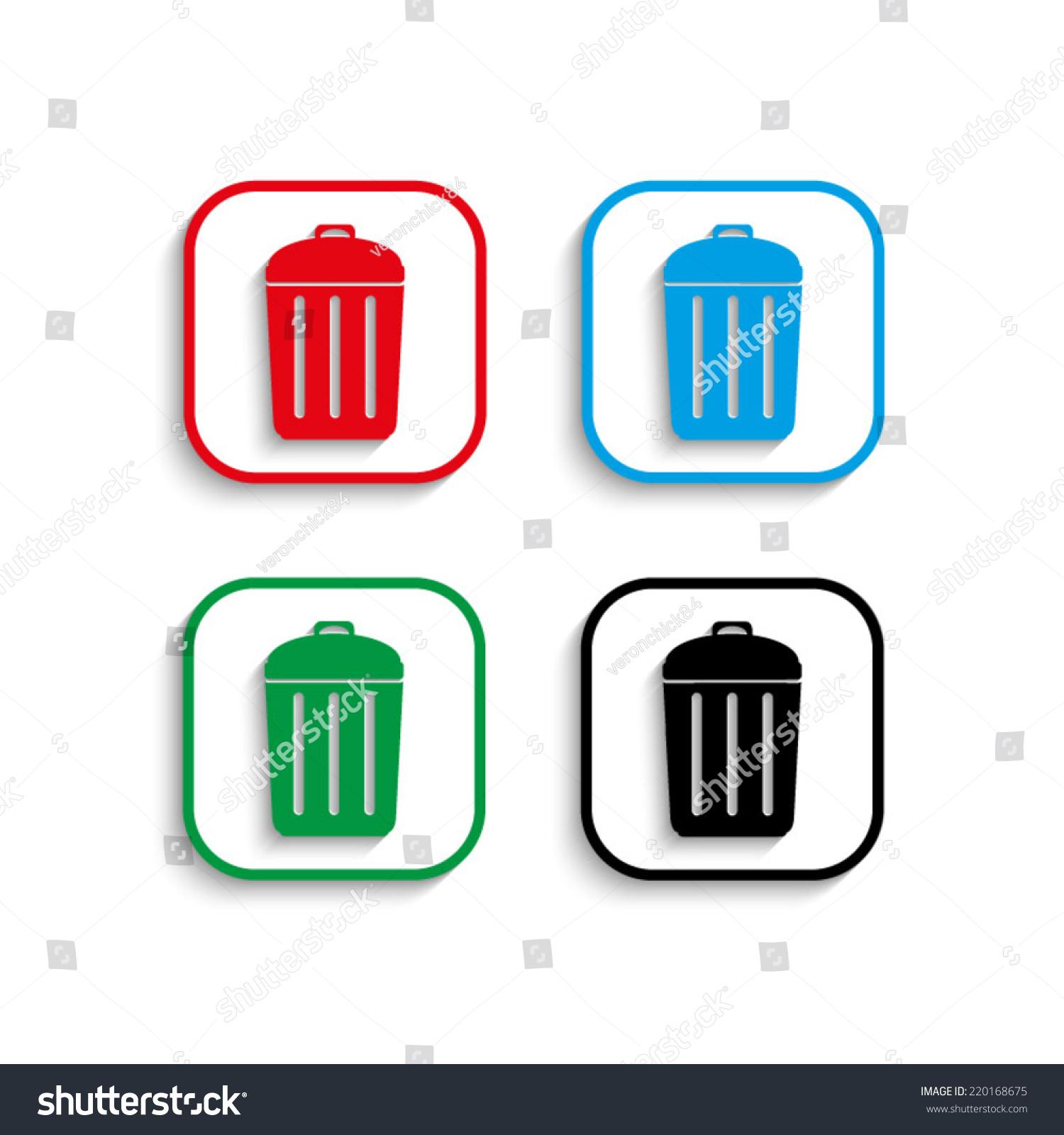 垃圾桶图标有阴影图片