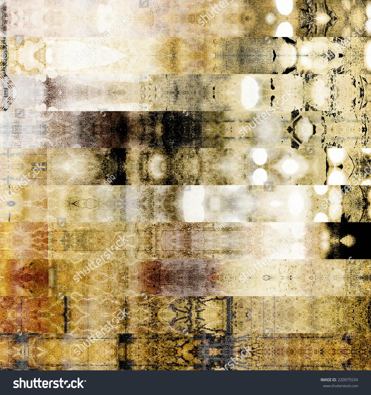 艺术抽象几何横条纹图案背景白色