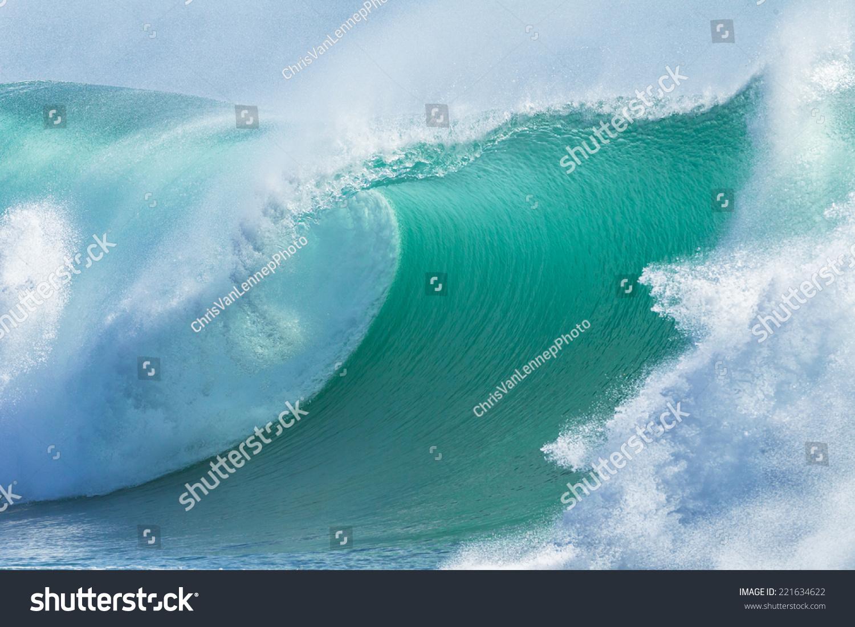海浪蓝水海浪蓝色膨胀破碎冰壶打破海水-自然,抽象-()