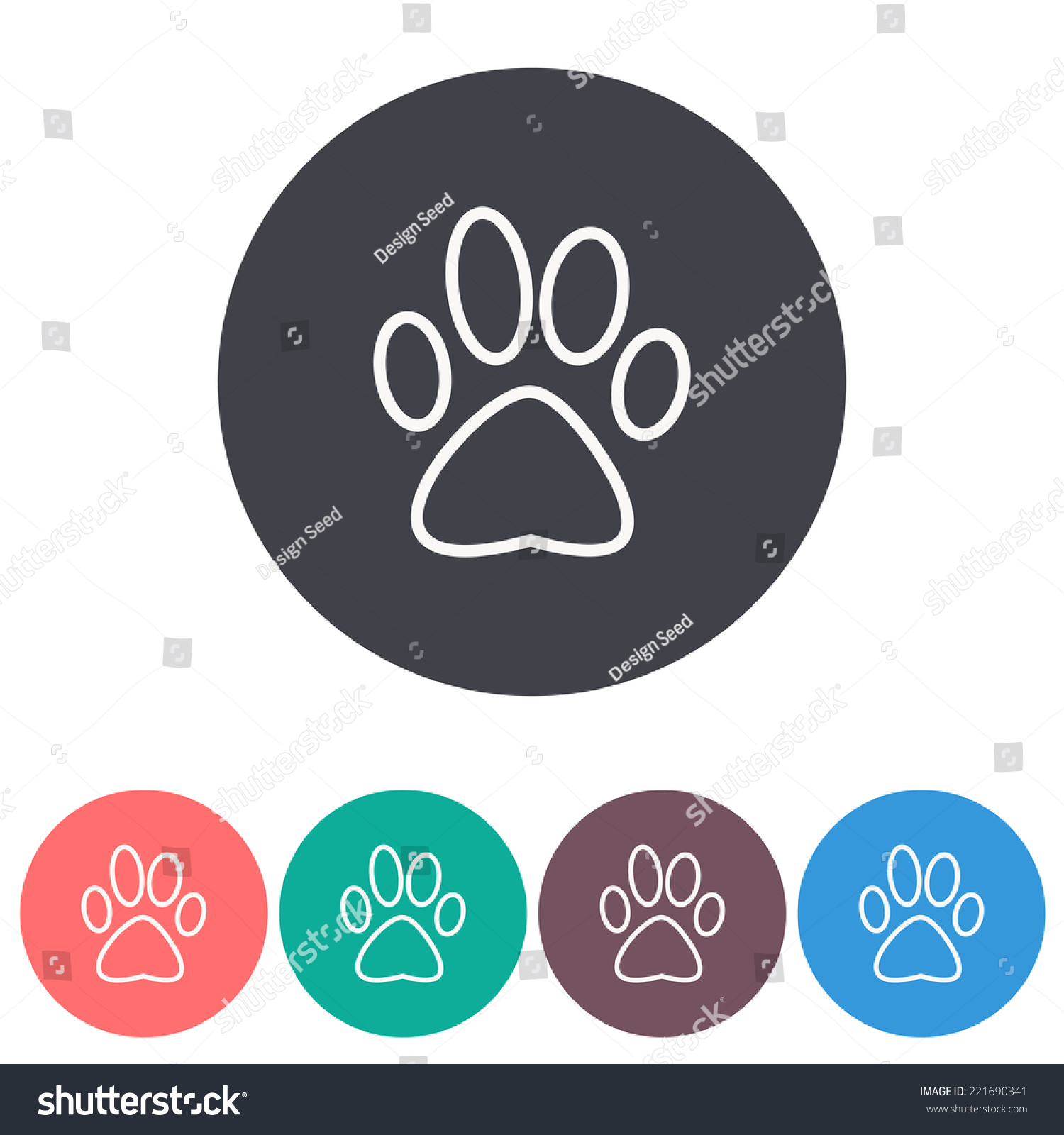 狗爪子图标,矢量图-符号/标志-海洛创意(hellorf)--.