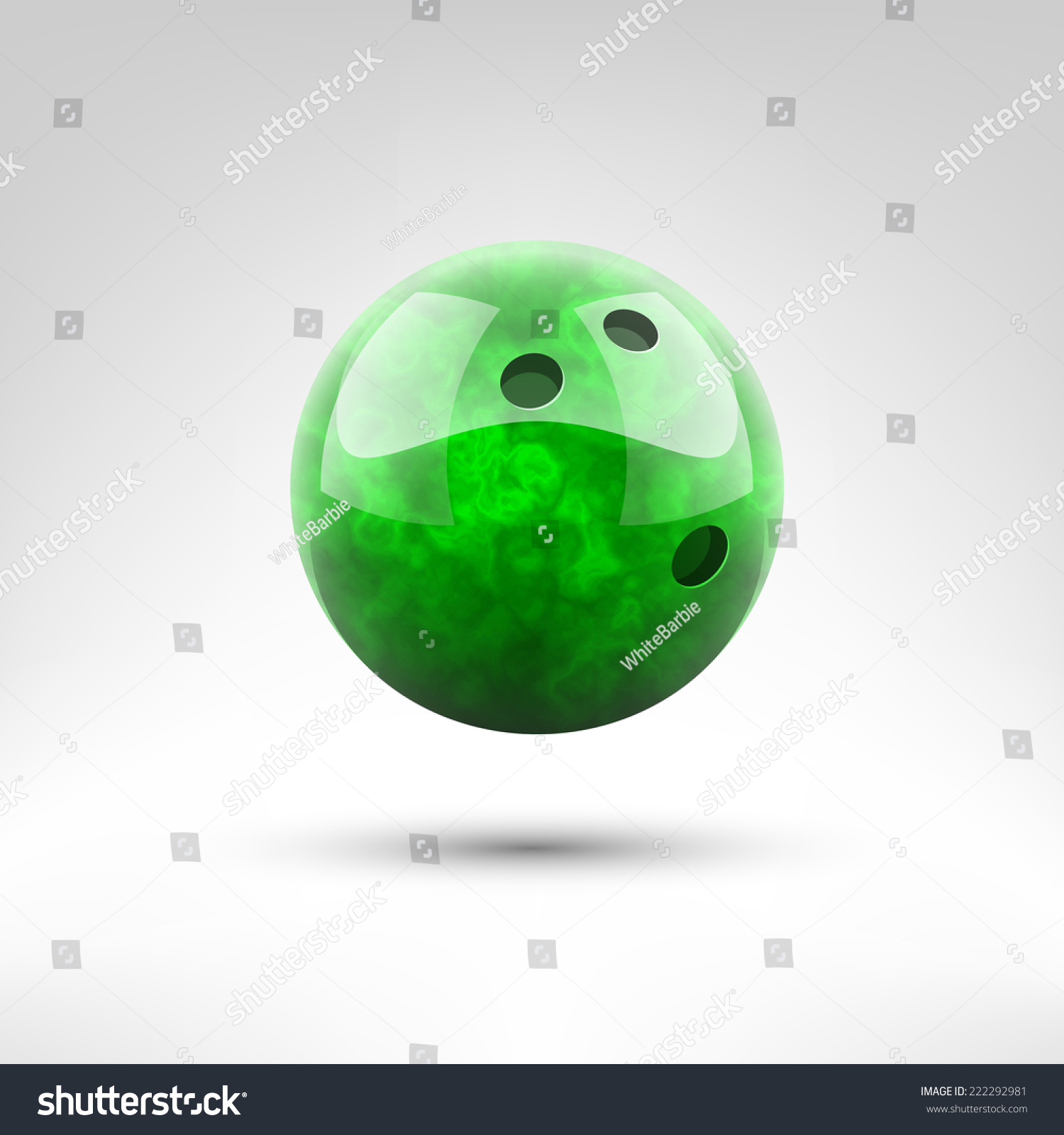 孤立的绿色保龄球矢量插图-物体