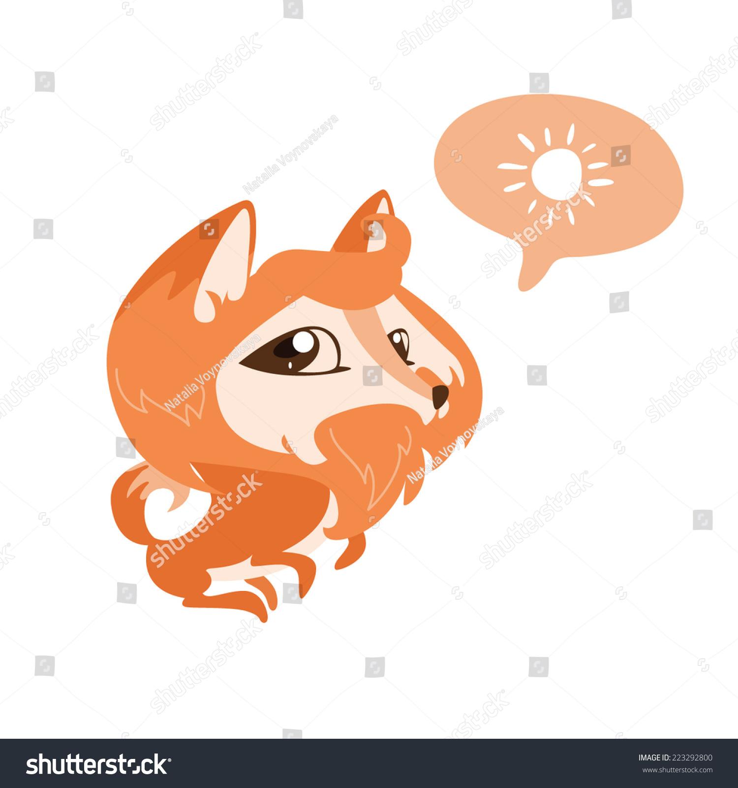 可爱的狐狸在言语中的太阳-动物/野生生物-海洛创意()