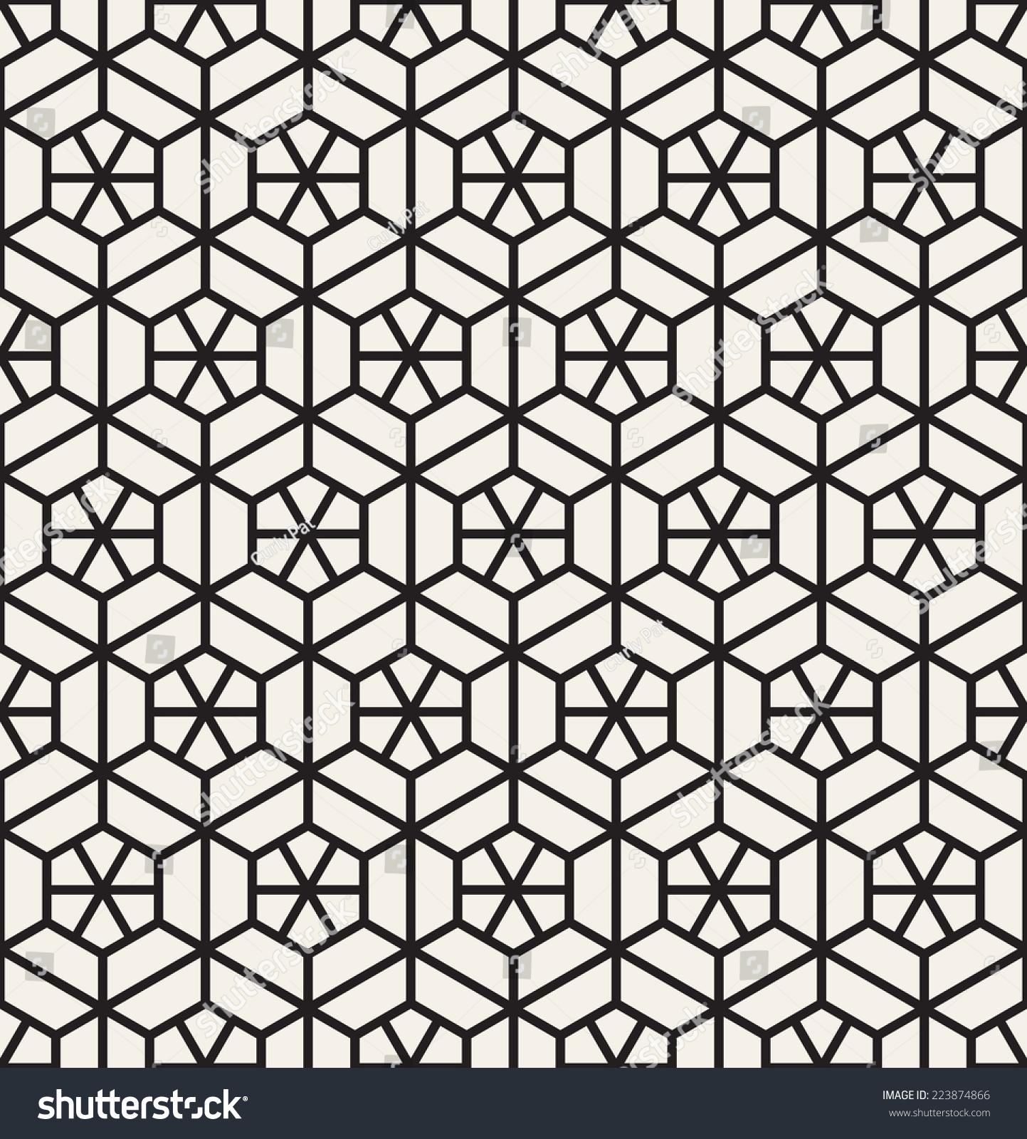 现代时尚的纹理.重复的几何瓷砖