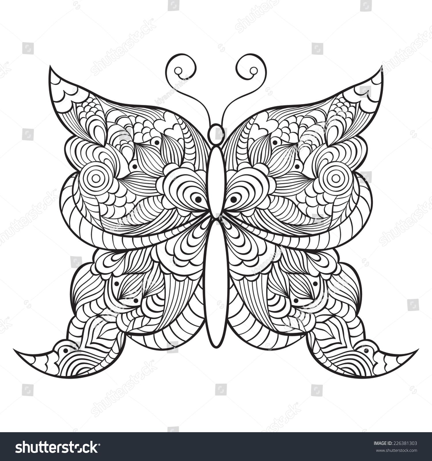 在白色背景矢量图抽象的蝴蝶-动物/野生生物