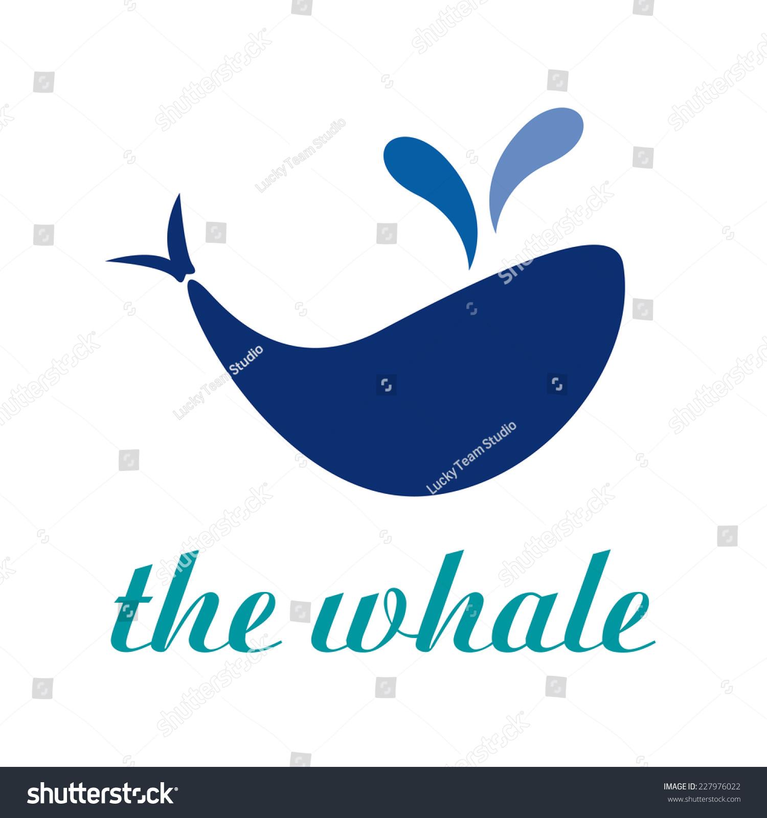 矢量信号抽象的鲸鱼-动物/野生生物,符号/标志-海洛()