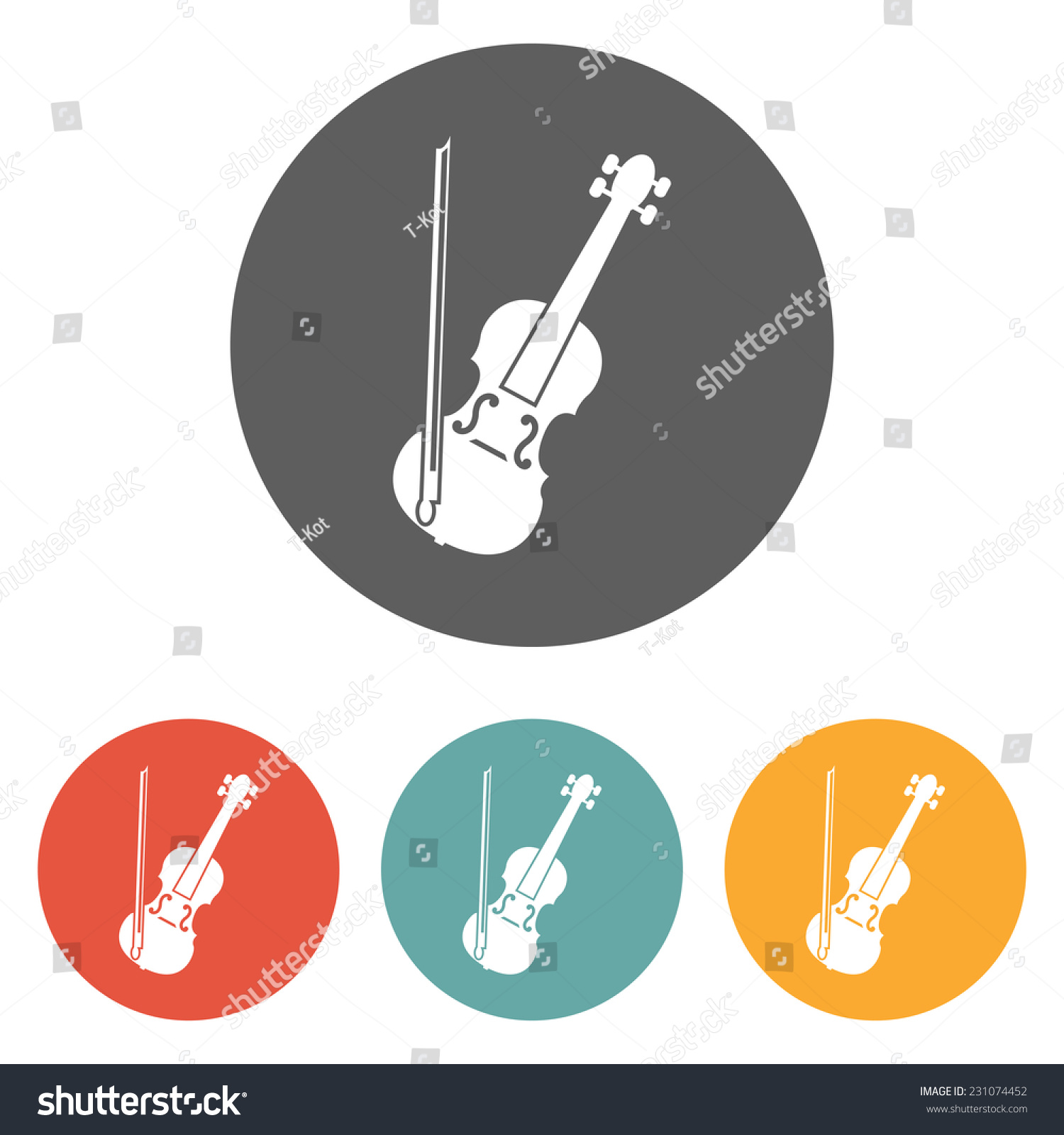 小提琴的图标图片