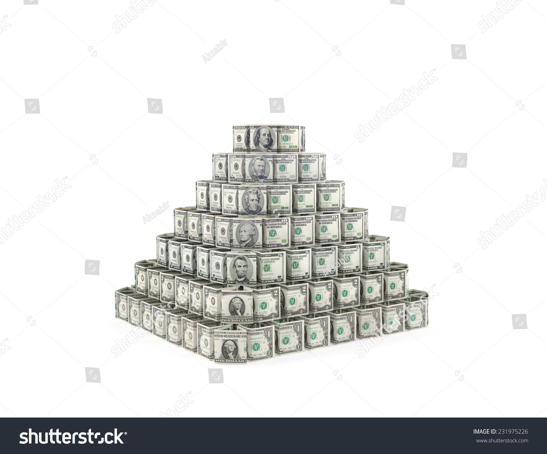 美元账单金字塔作为主要储备货币的符号