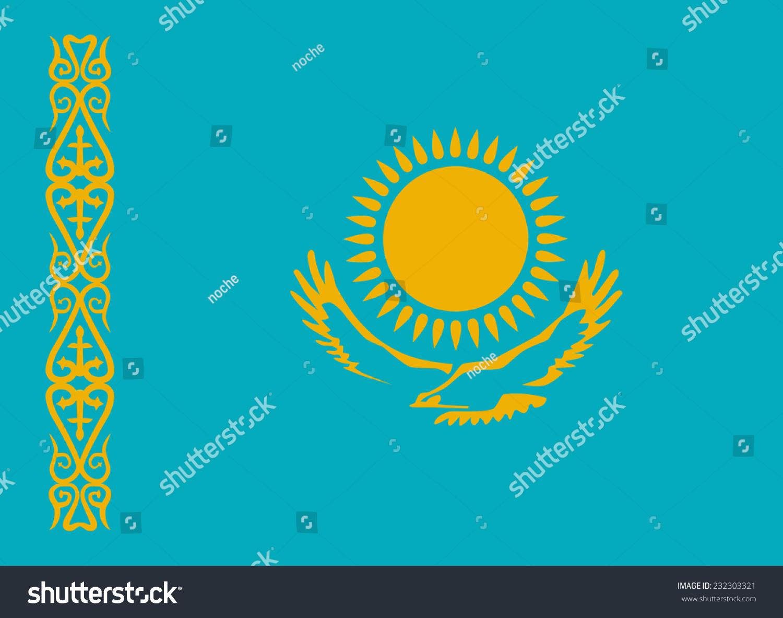 哈萨克斯坦国旗矢量插图-符号/标志,其它-海洛创意()