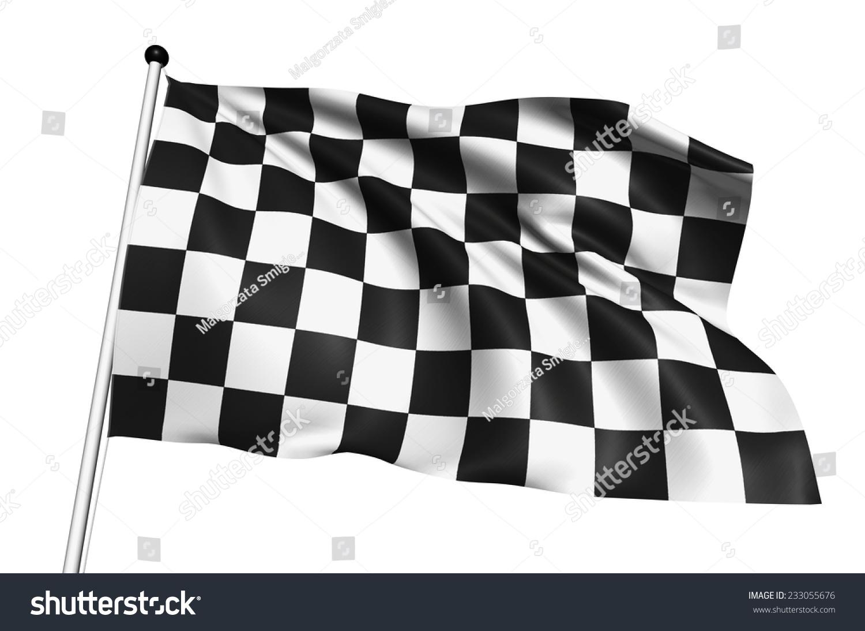 白色背景上方格旗与织物结构-背景/素材-海洛创意()