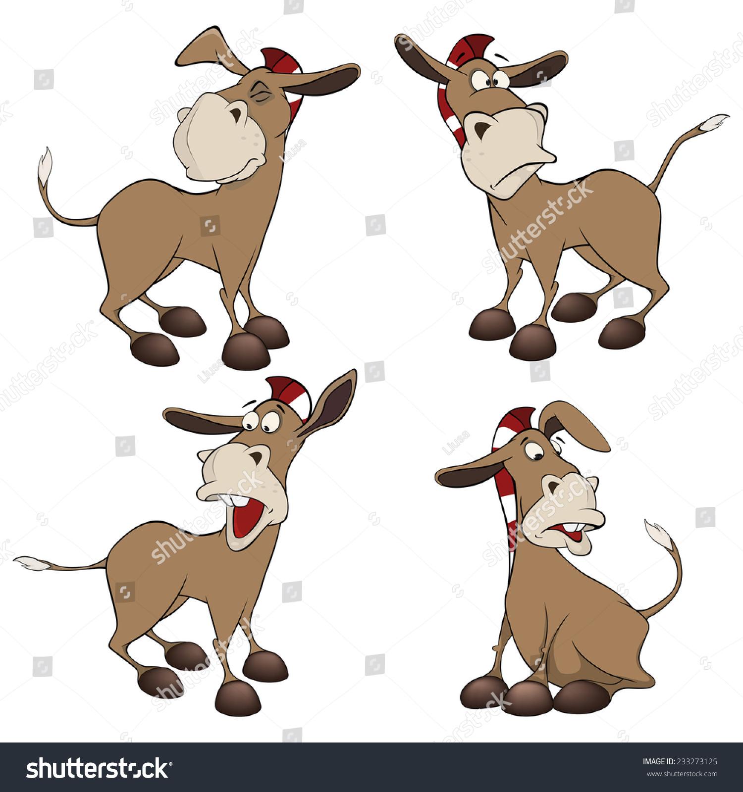 驴子的卡通-动物/野生生物