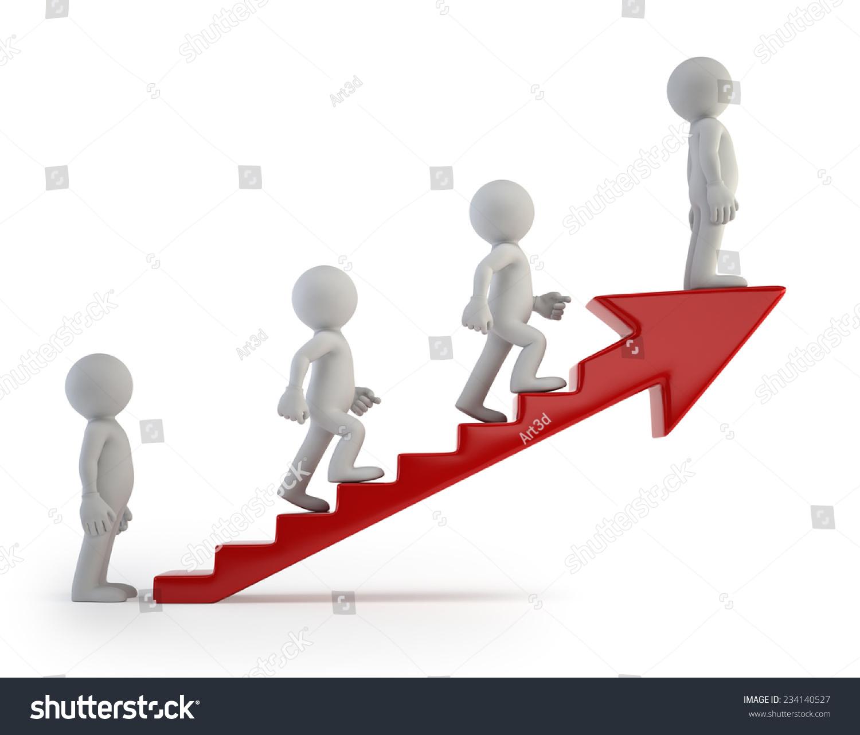 d小人——成功的阶梯-商业/金融图片