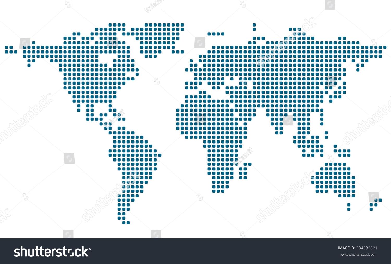 世界地图的程式化形象.矢量图-背景/素材,符号/标志