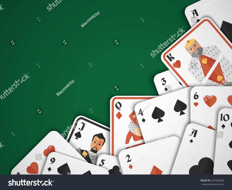 赌场扑克危害风险游戏扑克牌背景说明-背景/素材