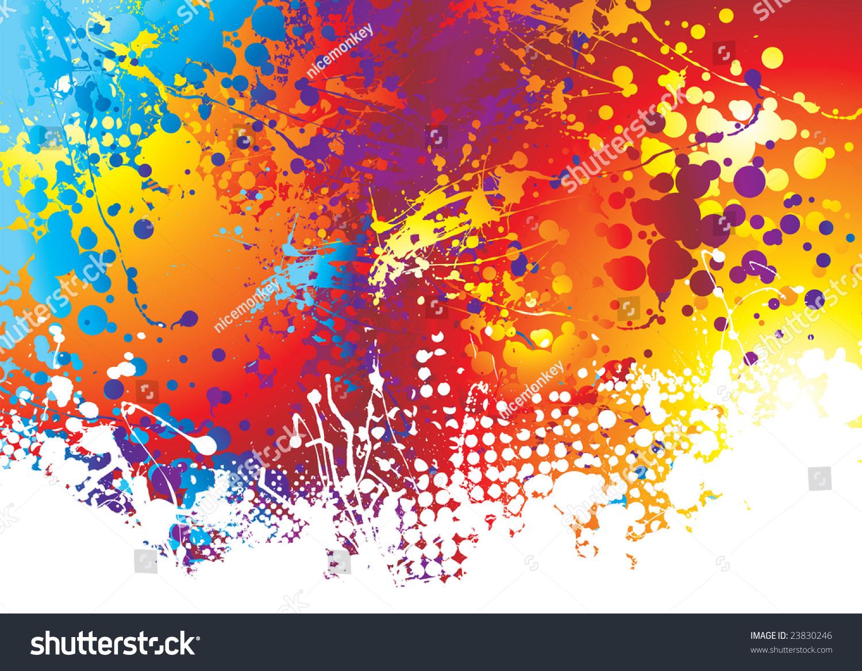彩虹背景用墨水长条木板用白色油漆效果